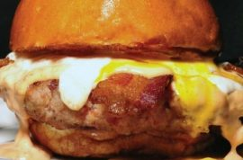 Slater's 50/50 introduces July 100% ground bacon burger deal cause they know you will be dead by August.