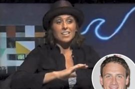 Ryan Lochte's sister, Megan Lochte insists she's not a racist douchebag. Just ironic that's all.
