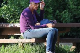 Brigitte Nielsen stumbling in LA park completely disorientated. High, drunk or what?