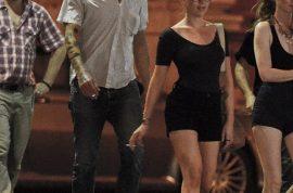 Oh my! Scarlett Johansson and her boyfriend create a scene in Paris.