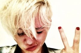 Miley Cyrus insists her new hairdo is just too fantastic. Her fans don't though….