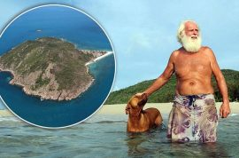 Real life Robinson Crusoe living on Australian island for 20 years faces eviction.