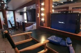Simon Cowell would like to show off his $2 million 1200 ft trailer.