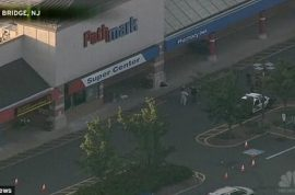 Ex marine shoots dead at least 2 people at New Jersey Pathmark store including self. Hunted them like animals.