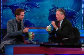 Robert Pattinson parties at NY Premiere of 'Cosmopolis but doesn't take John Stewart bait….