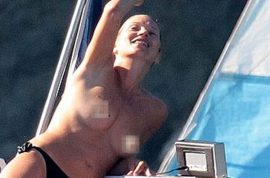 Oh! Is that Kate Moss topless on yet another yacht?