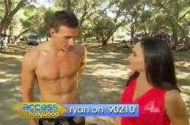 Ryan Lochte makes a talentless hawt bixch cameo on 90210. Nevermind he's got perky nipples…
