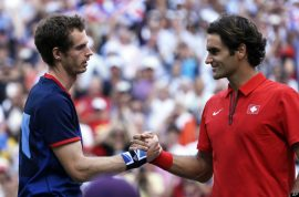 Andy Murray finally beats Roger Federer. Wins Olympic gold medal.