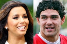 Eva Longoria dates NY Jets Quaterback Mark Sanchez. Usual idiots cry cougar…