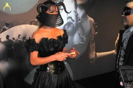 Lady Gaga asks that you don't wake her at the her new perfume launch, 'Fame' at the Guggenheim.