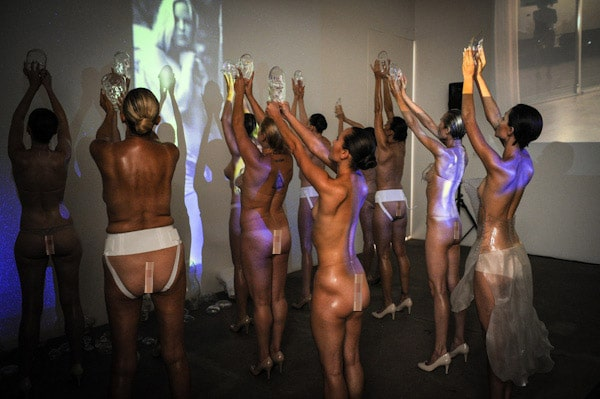 Imitation of Christ Spring 2013 collection: High naked concept.