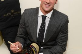 What? Ryan Lochte goes from beer stained speedo to US Open best dressed suit wearer….