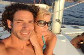 Camille Grammer shows off her boy toy friend whilst vacationing in Greece…