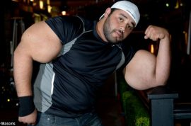 Meet the real life Popeye with 31 inch biceps. 'Big Mo' has the biggest biceps in the world.