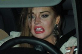 Lindsay Lohan arrested after hit and run with Porsche. Reeked of alcohol…
