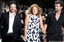 Diane von Furstenberg 2013 Spring collections introduces google glasses.