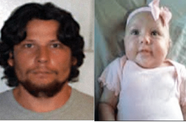 Man convicted of orally raping and murdering his fifteen week old baby.