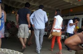 Pippa Middleton hangs out with Andre Balazs on Shelter Island, NY.