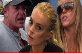 Lindsay Lohan's momma Dina reckons Lilo needs protection order against her dad Michael.