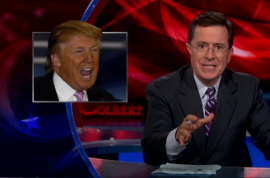 Donald Trump announcement is met with $1 million offer to dip Stephen Colbert's 'balls in his mouth…'