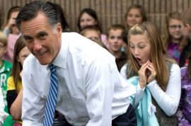 And the winning caption of this photo of Mitt Romney is…?