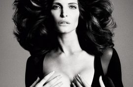 Stephanie Seymour at 44 stars in risque bondage shoot. Makes ID Mag cover.