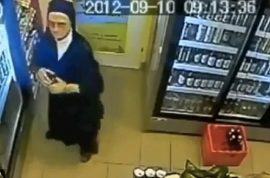 Oh really? Nun caught on camera stealing beer.