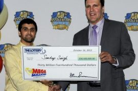 22 year old man recently dumped by girlfriend wins $30 million lottery.