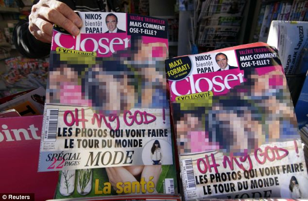 Kate Middleton topless pictures as they appeared in Closer Mag.