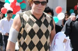 And here are stills from Mickey Rourke's latest wig. Fluffy and flowing.