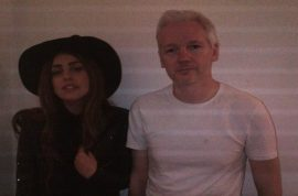 Really? Lady Gaga meets with Julian Assange in the Ecuadorian Embassy.