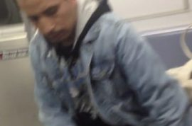 Man caught on camera sexually molesting sleeping woman on NYC subway.