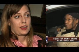 Detroit woman living in own home with squatter whom she's not allowed to kick out.