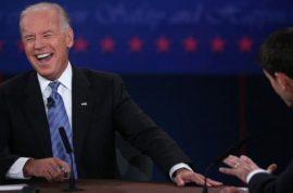 And the winner of last night's vice presidential debate was Joe Biden's laugh.