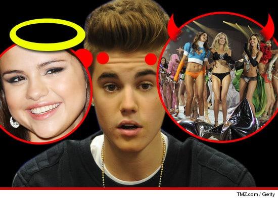 Justin Bieber and Selena Gomez.