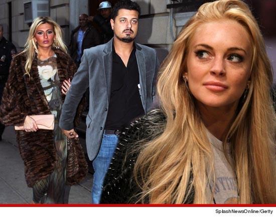 Tiffany Eve Mitchell, Wayne Stevens and Lindsay Lohan.