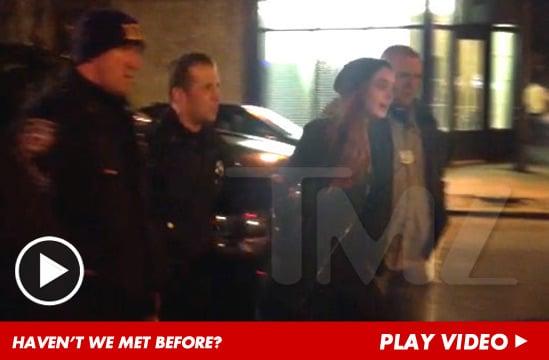Lindsay Lohan arrested.