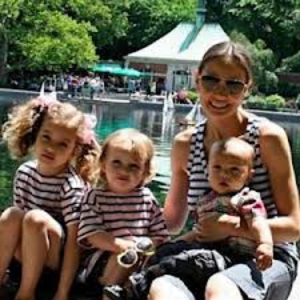 Marina Krim with Nessie Krim, Lulu Krim and Leo Krim.