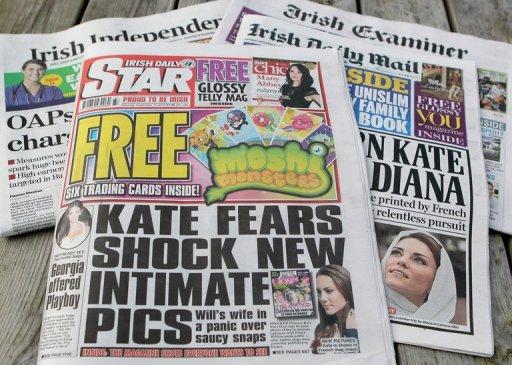 Irish Daily Star Kate Middleton topless photo scandal.
