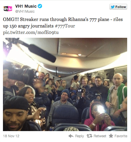 Rihanna 777 plane tour
