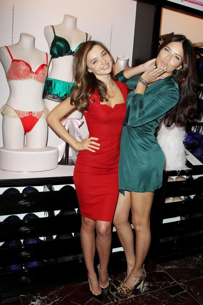 Miranda Kerr and Adriana Lima