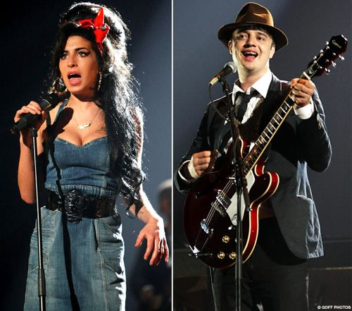 Amy Winehouse and Pete Doherty.