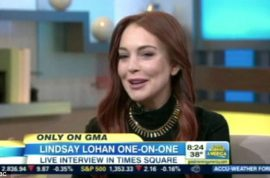 Lindsay Lohan only finds out she has a half sister live on Good morning America.