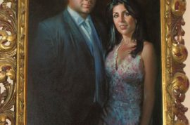 Jill Kelley, Florida socialite has tacky painting of herself and husband. But do you care?