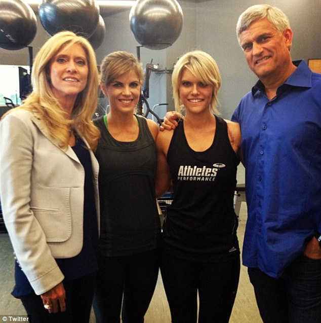 Lauren Scruggs and her family.