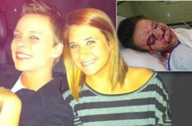 Lesbian brutally beaten by girlfriend's brother at Thanksgiving dinner cause he disapproved of relationship.