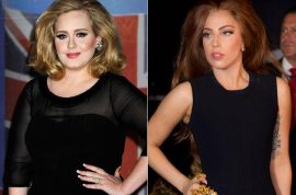 Lady Gaga cries foul that tabloids slam her for weight gain but not Adele.