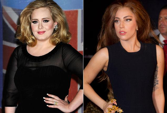 Adele and Lady Gaga.