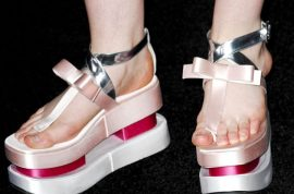 Did Elle Fanning stomp on you as she sashayed in her Prada Platform Geisha shoes?