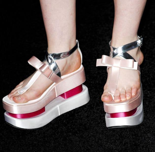 Elle Fanning's feet.